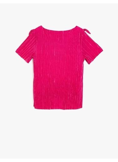 Koton Kids Omuz Detaylı Bluz Pembe